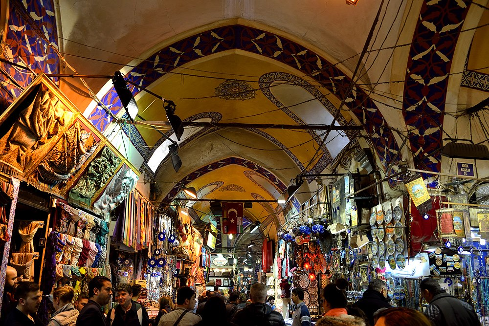 Grand Bazaar stays on a are of nearly 31 thousand square meters. It has 61 streets, 10 wells, 4 fountains, 2 mosques and over 2 thousand shops.